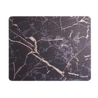 INSTEN 9.5-inch Ultra Thin Waterproof Silky Smooth Golden Marble Print Mouse Pad with Anti-Slip Backing (4 Colors) (Black/gold)