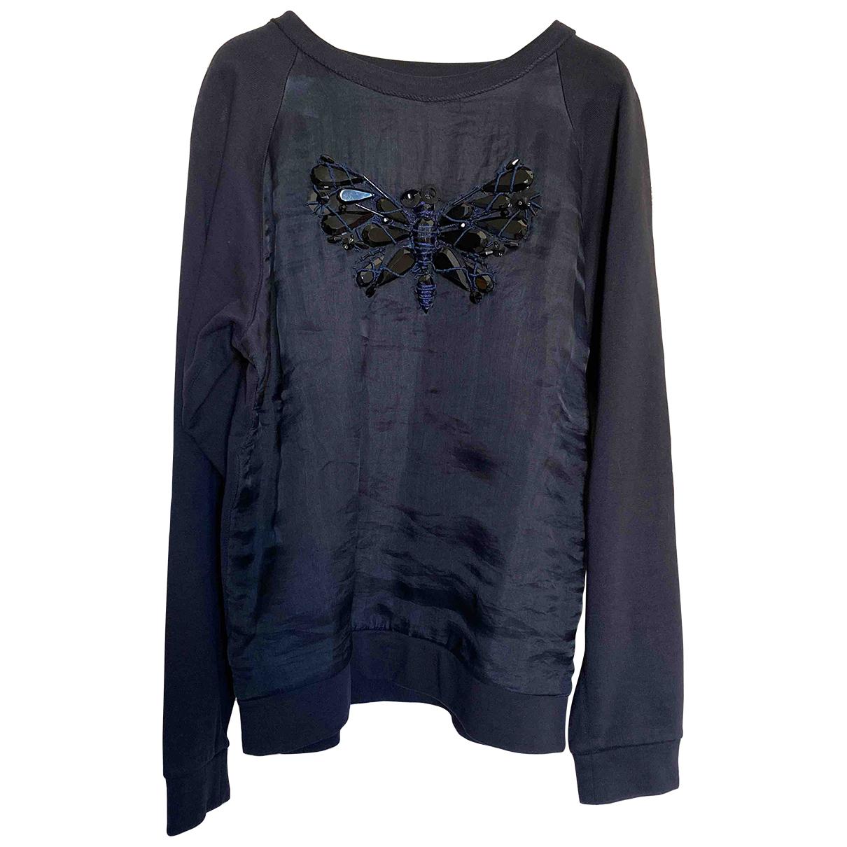 Lanvin - Pull   pour femme en coton - bleu