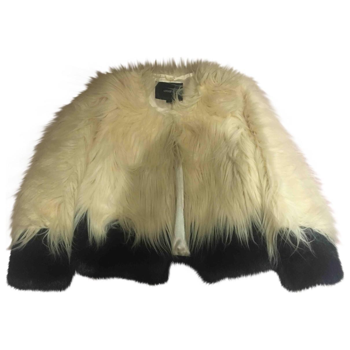 Unreal Fur - Veste   pour femme en fourrure synthetique - ecru