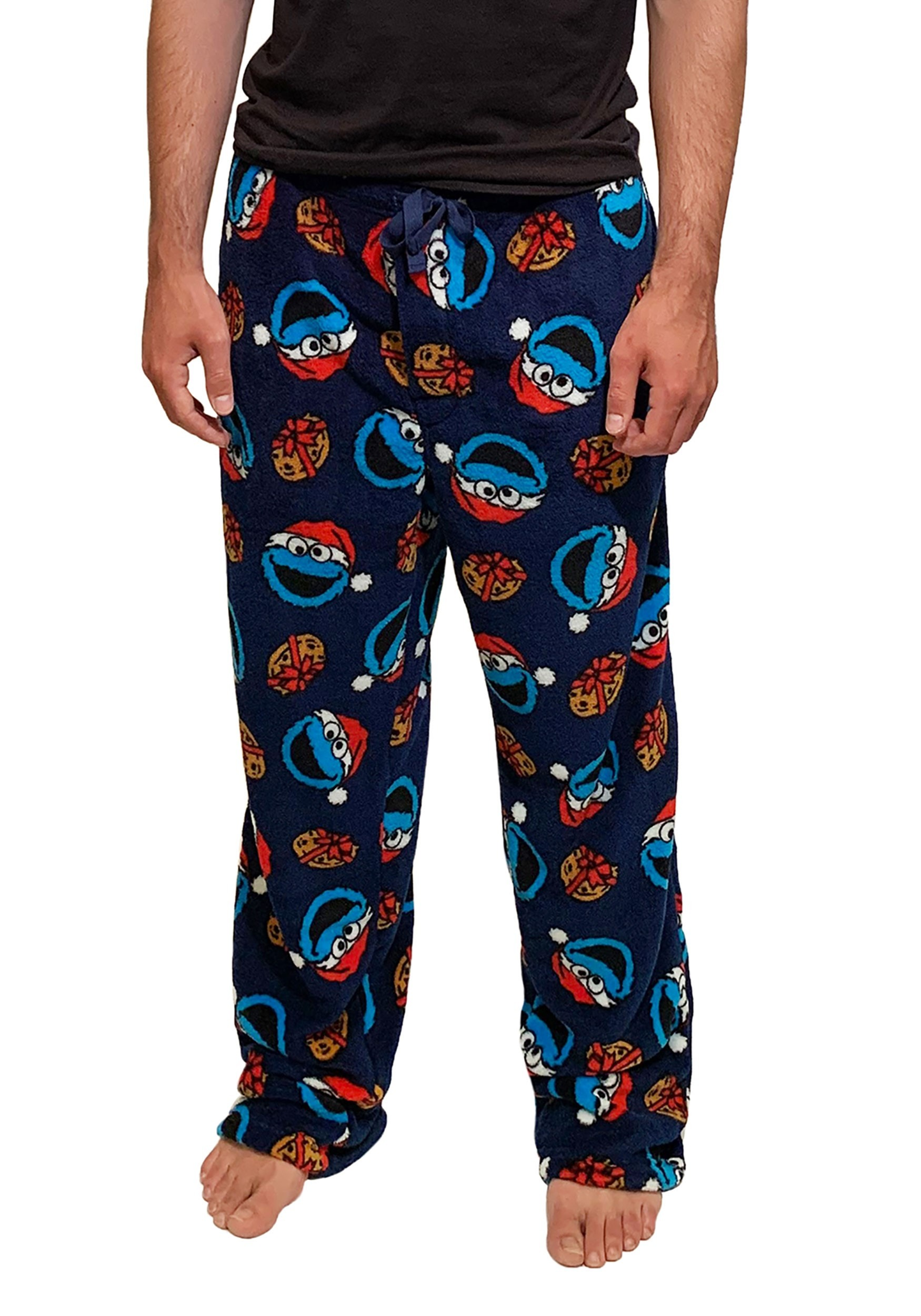 Santa Cookie Monster Men's Soft Lounge Pants