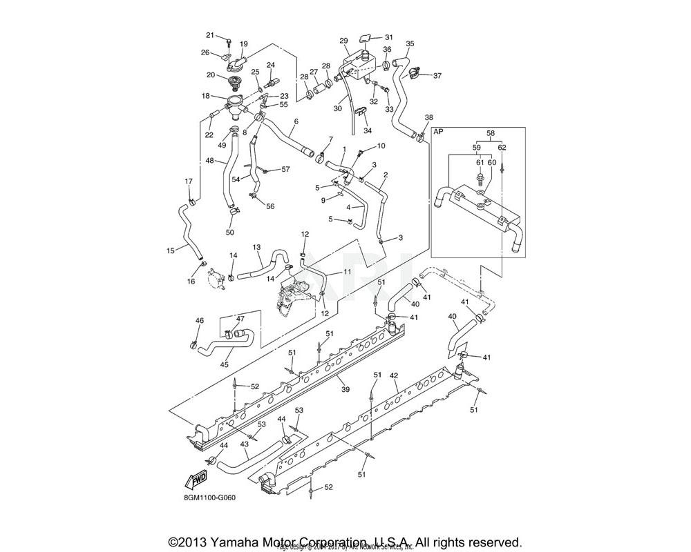 Yamaha OEM 8ET-124A0-00-00 HEAT EXCHANGER KIT | AP