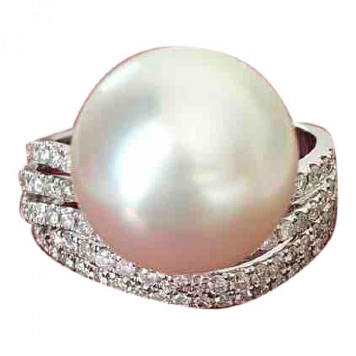 - Bague Nacre pour femme en or blanc - blanc