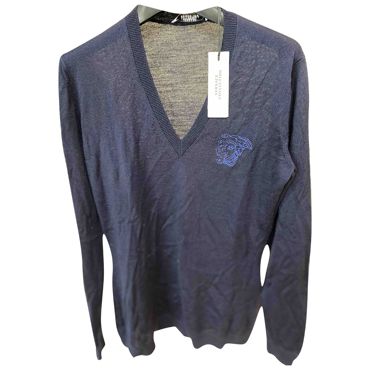 Versace \N Pullover in  Blau Wolle