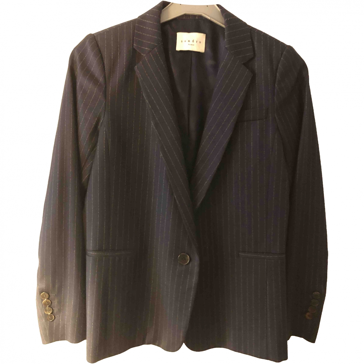 Sandro \N Navy jacket for Women 36 FR