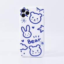 Bear & Rabbit Print iPhone Case