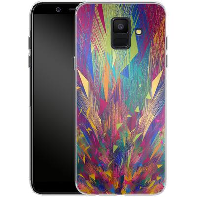 Samsung Galaxy A6 Silikon Handyhuelle - Triangles Explosion von Danny Ivan