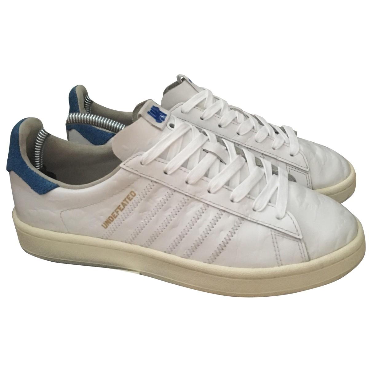 Adidas - Baskets   pour homme en cuir - blanc