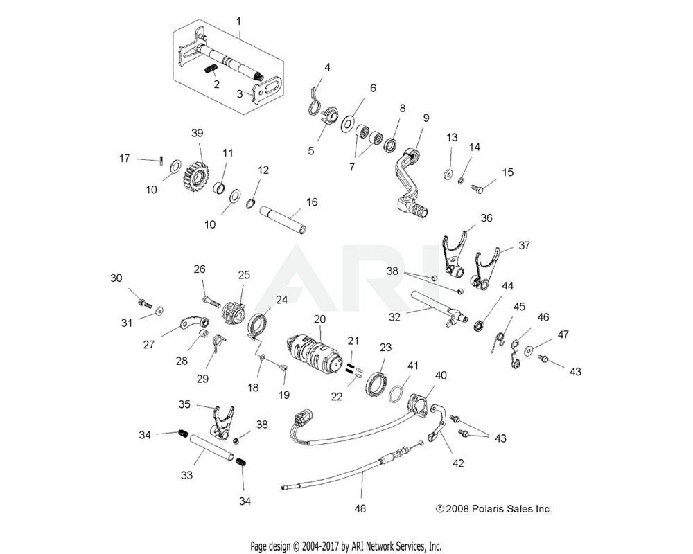 Polaris OEM 3234456 Bushing, Shift Fork