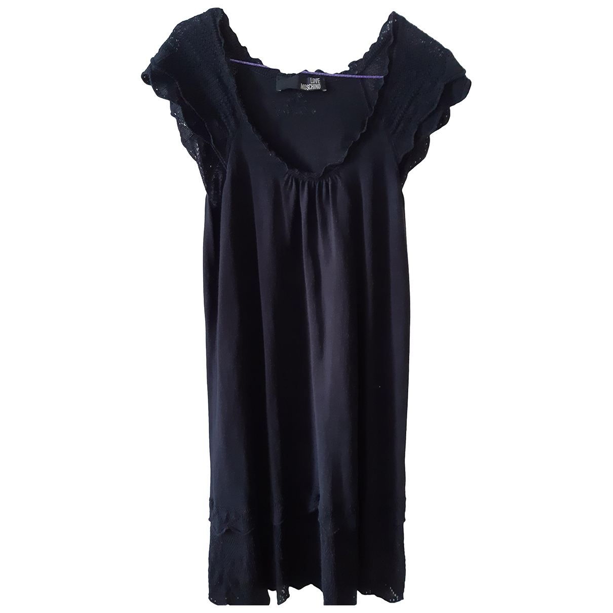 Moschino Love \N Black Cotton dress for Women 36 FR