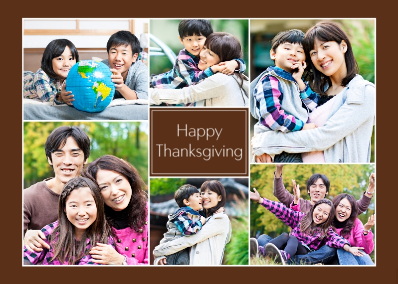 Thanksgiving Photo Cards Mail-for-Me Premium 5x7 Folded Card , Card & Stationery -Happy Thanksgiving Collage