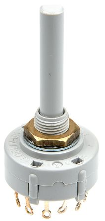 Lorlin , 12 Position SP Rotary Switch, 150 mA @ 250 V ac, Solder Tab