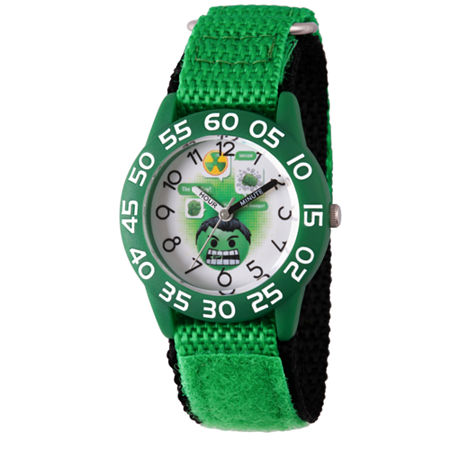 Marvel Emoji Marvel Boys Green Strap Watch-Wma000073, One Size , No Color Family