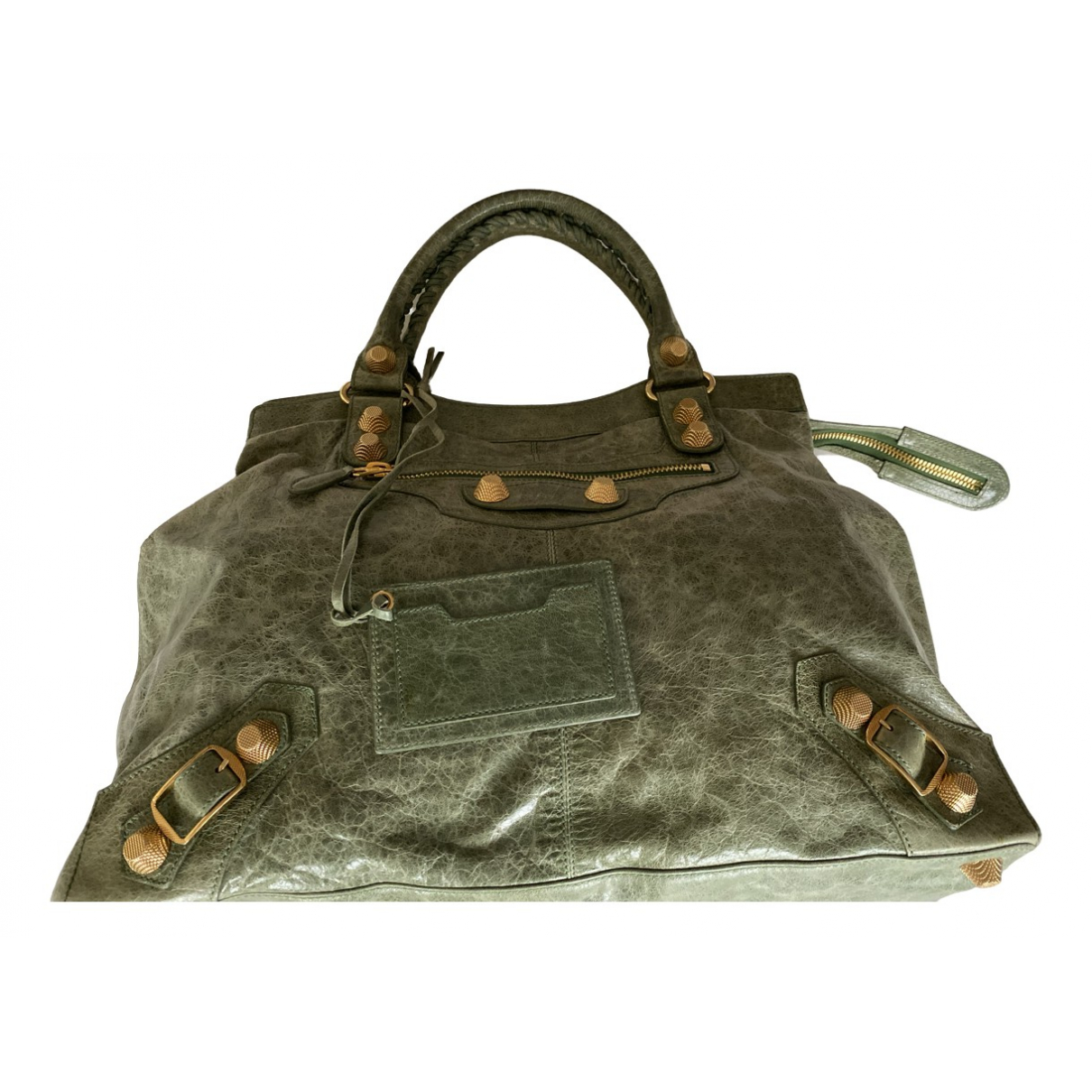 Balenciaga Weekender Green Leather handbag for Women \N