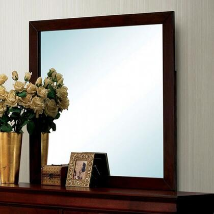 Louis Philippe III Collection CM7866CH-M 38 x 38 Mirror with Square Shape Frame  Solid Wood and Wood Veneer Construction in