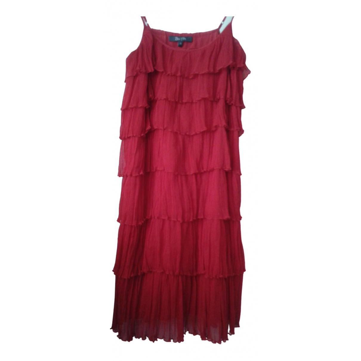 Bel Air \N Kleid in  Rot Seide