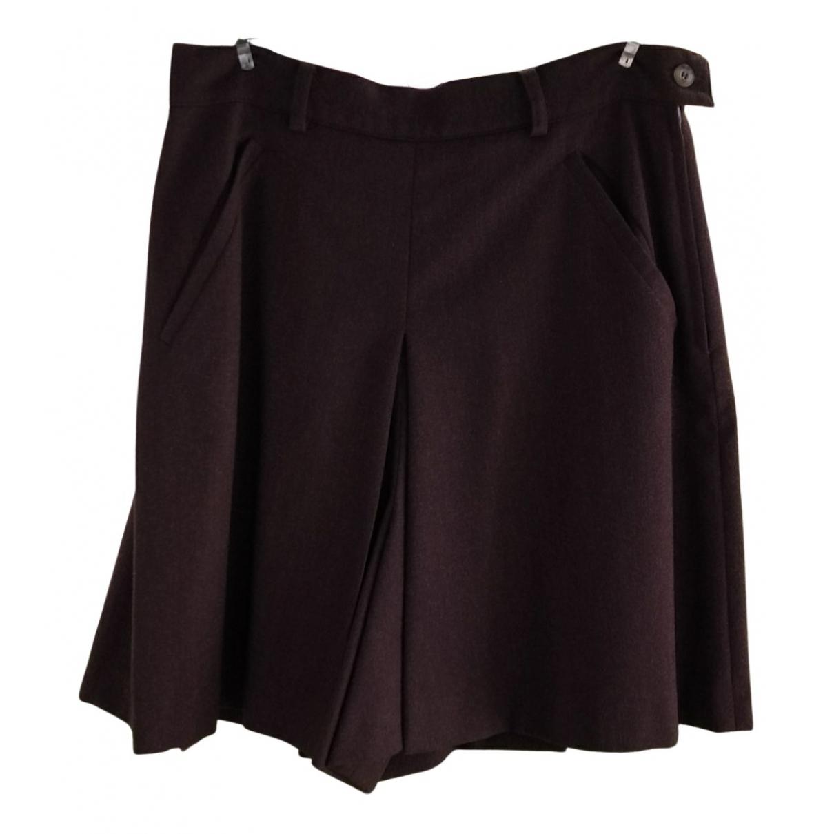 Max Mara Weekend N Brown Wool skirt for Women 44 IT