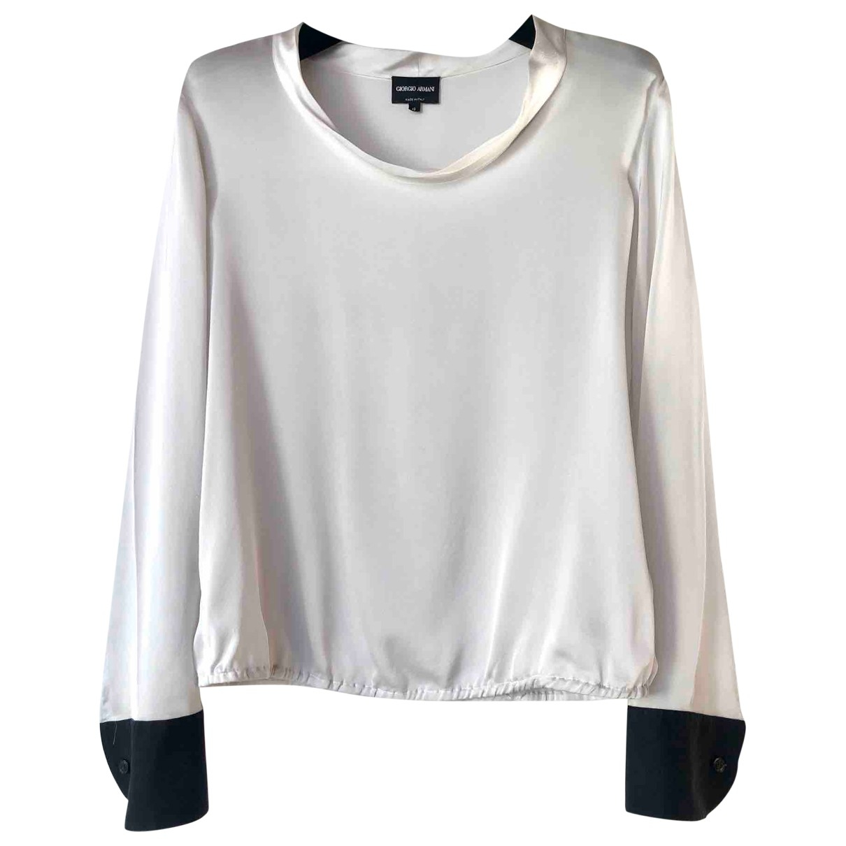 Giorgio Armani \N Grey Silk  top for Women 42 IT