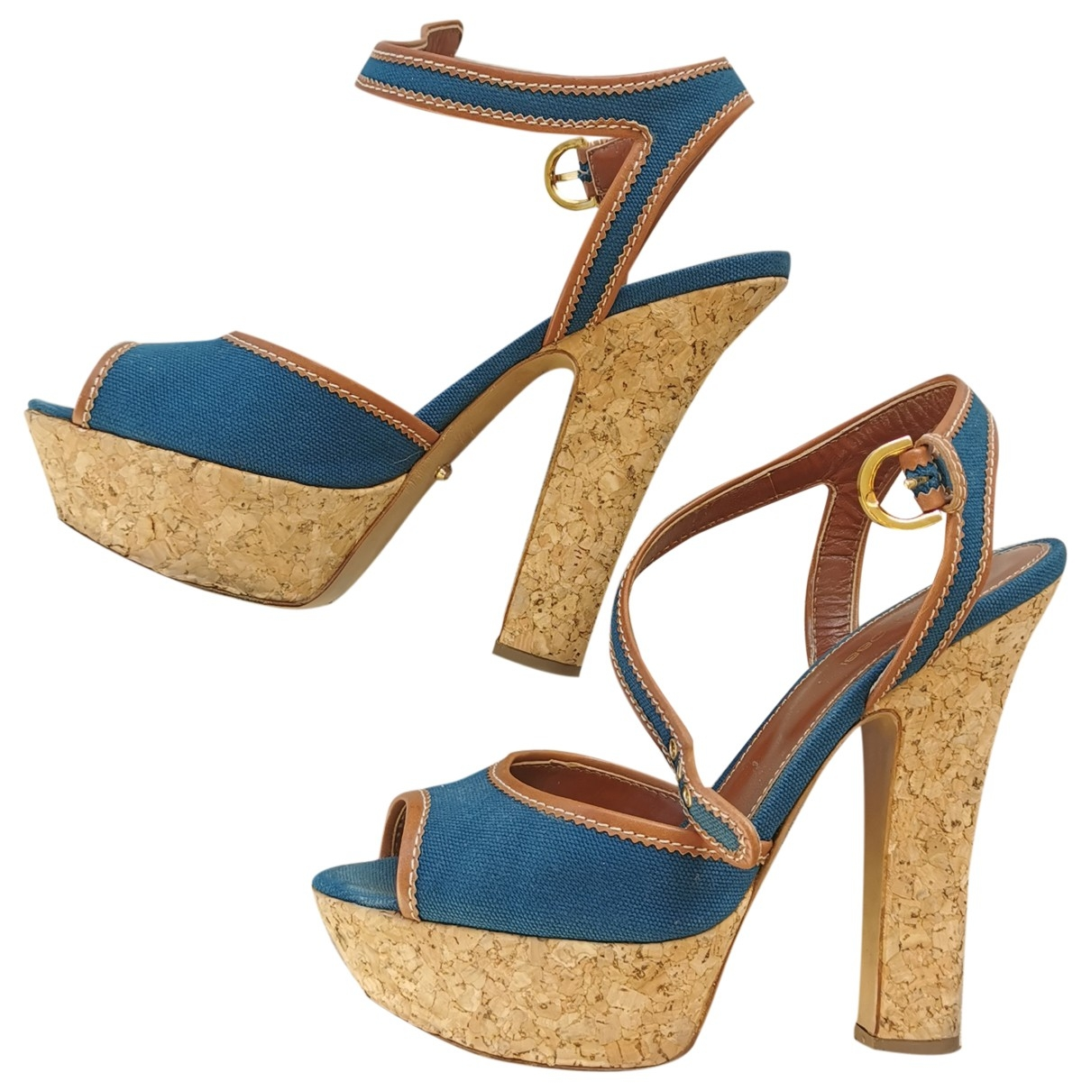 Sandalias de Lona Sergio Rossi