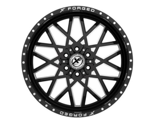 XF Off-Road XFX-307 Wheel 20x9 5x139.7|5x150 0mm Black Milled Window