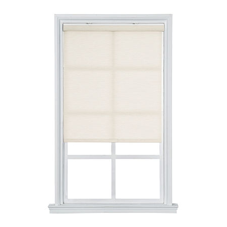 JCPenney Home Light Filtering Textured Cordless Roller Shade, One Size , White