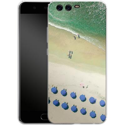 Huawei P10 Silikon Handyhuelle - Beach Umbrellas von Joy StClaire
