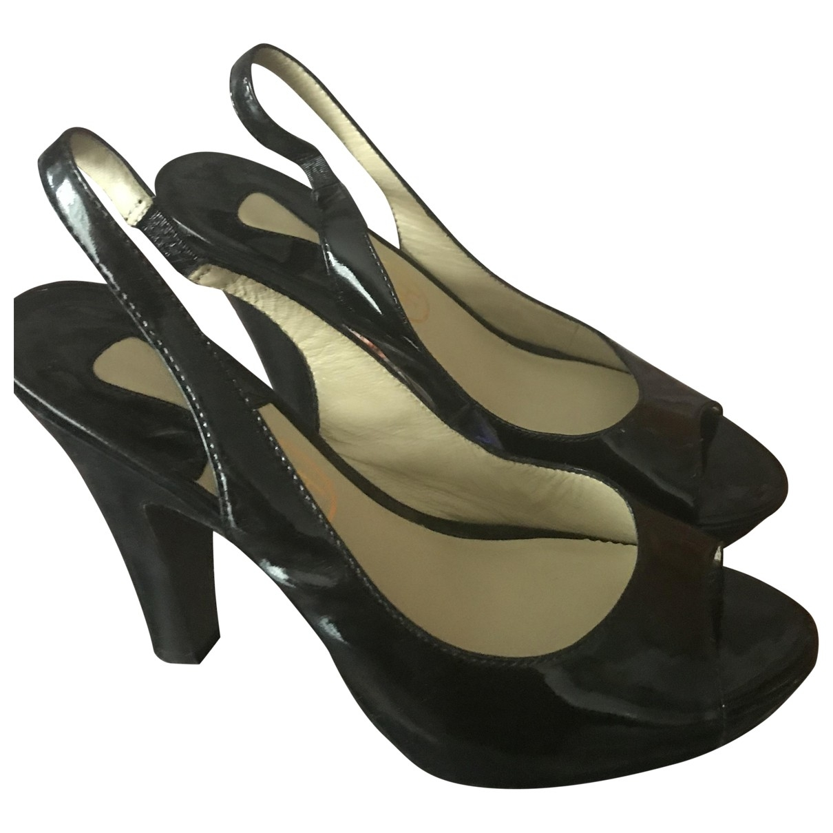 Ash \N Black Patent leather Heels for Women 39 EU