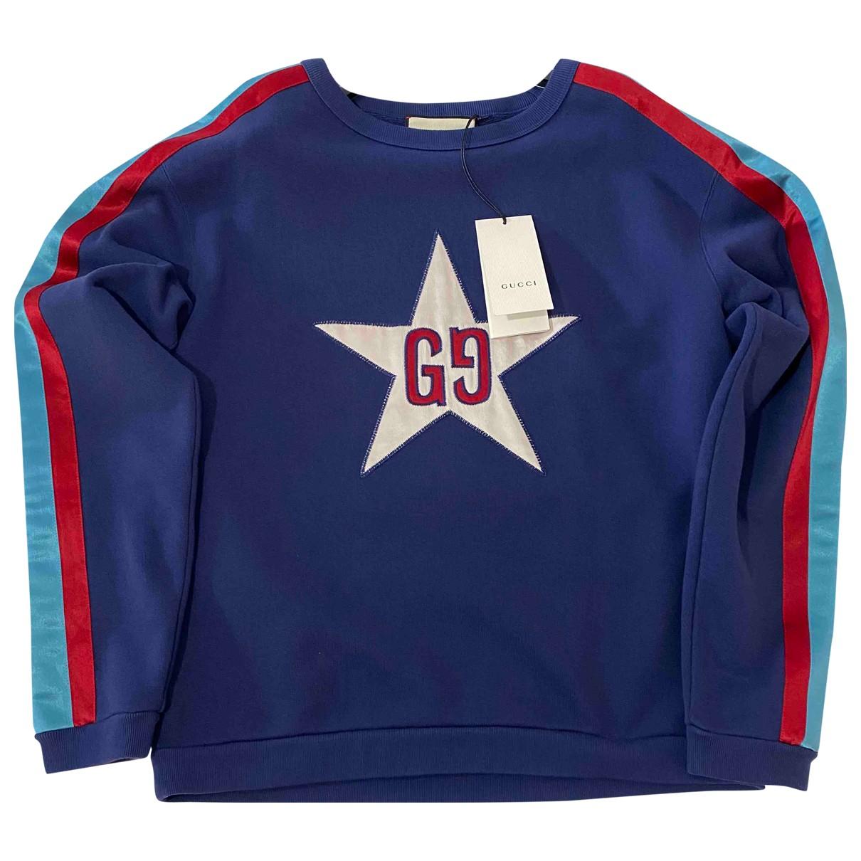Gucci N Blue Cotton Knitwear & Sweatshirts for Men XS International