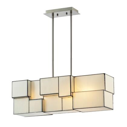 72063-4 Cubist Collection 4 Light chandelier in Brushed