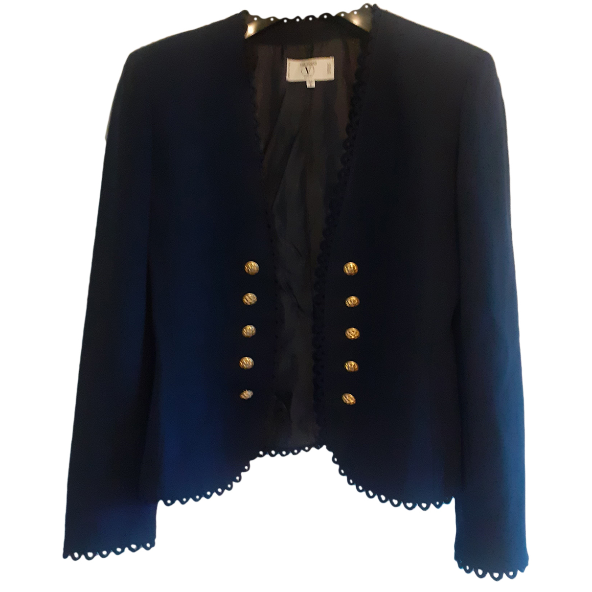 Valentino Garavani N Navy Wool jacket for Women 8 UK