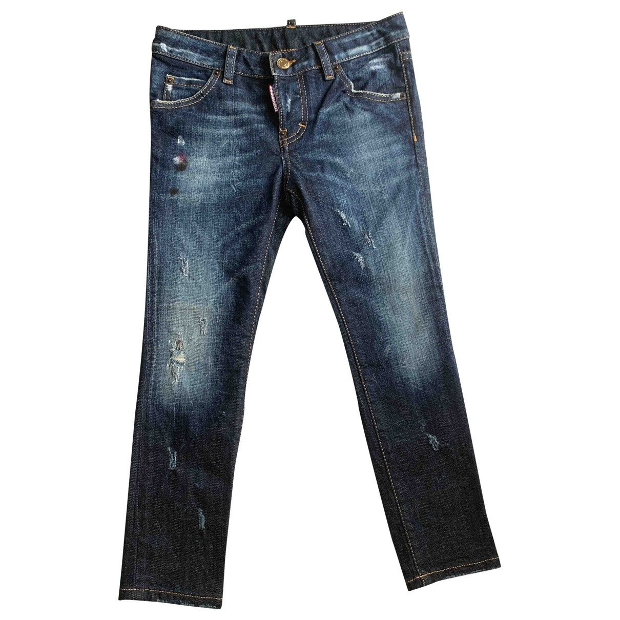 Dsquared2 N Blue Denim - Jeans Trousers for Kids 8 years - up to 128cm FR