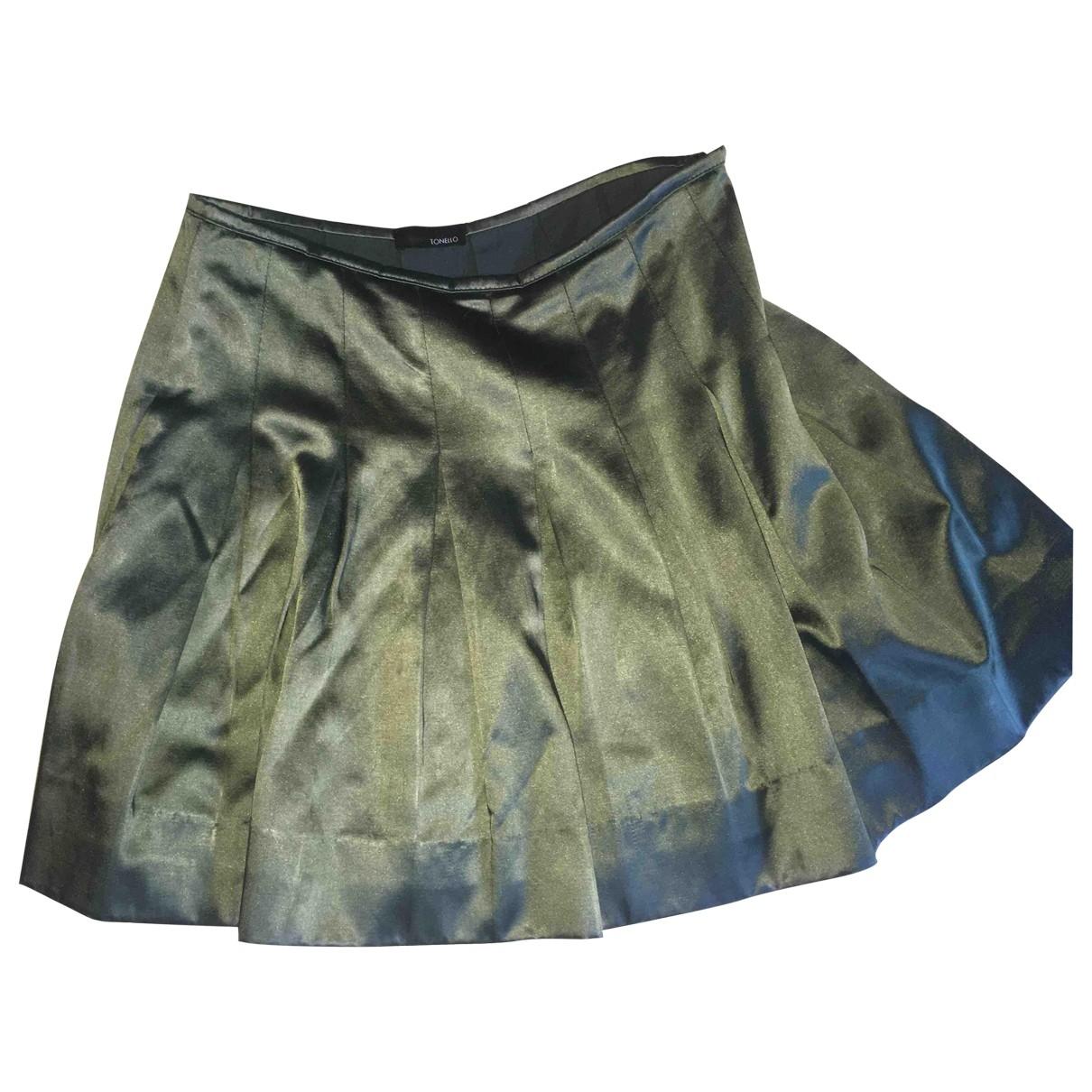 Tonello - Jupe   pour femme en coton - vert