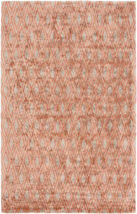 Quartz QTZ-5010 4' x 6' Rectangle Modern Rug in Burnt Orange  Dark