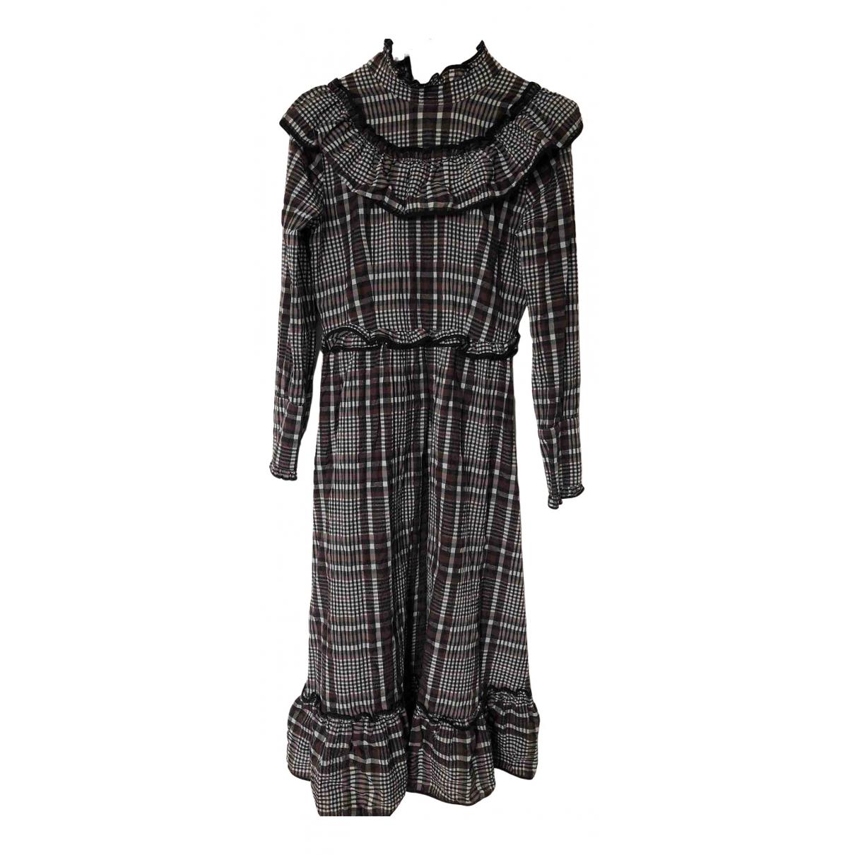 Ganni \N Kleid in  Bunt Baumwolle
