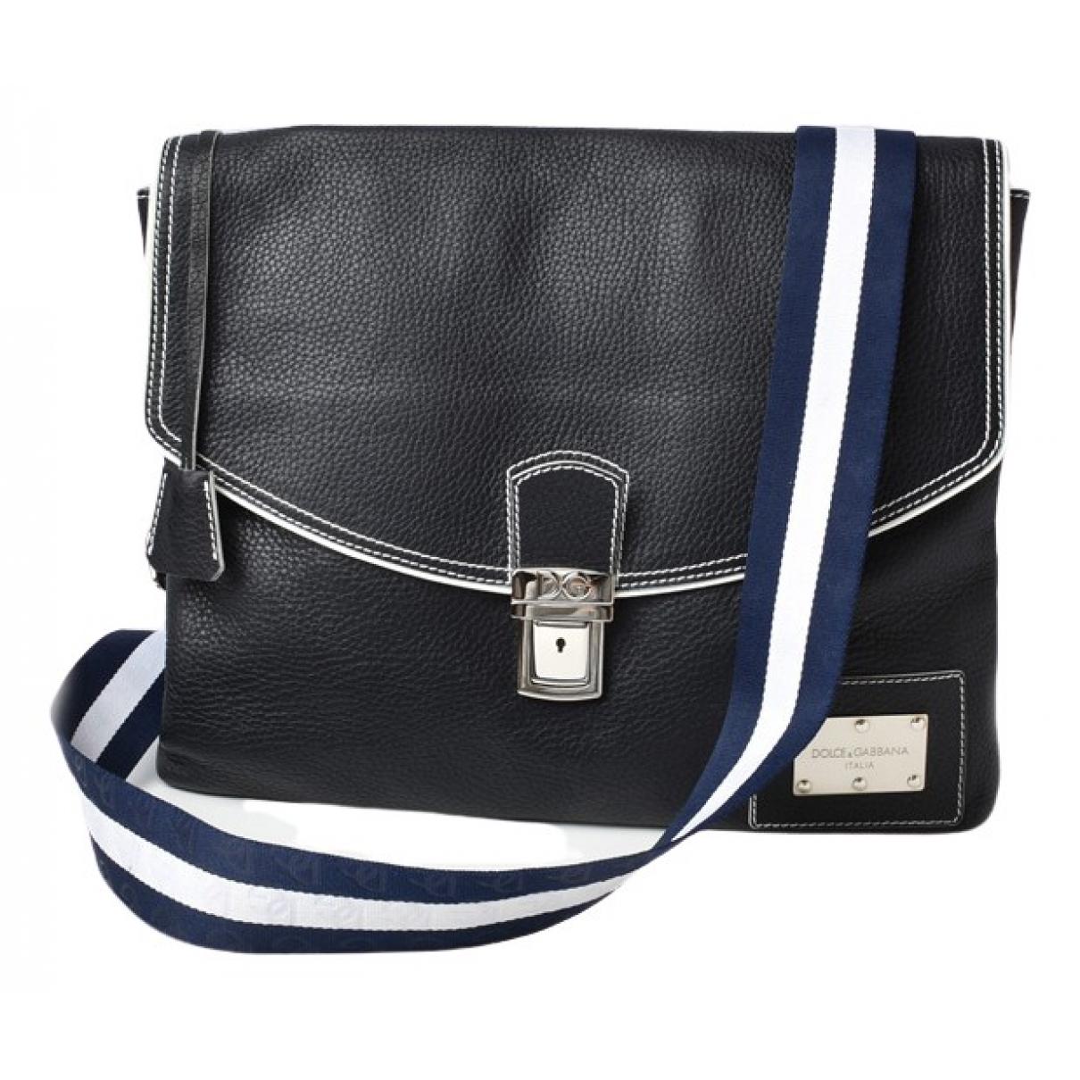 Dolce & Gabbana \N Navy Leather handbag for Women \N