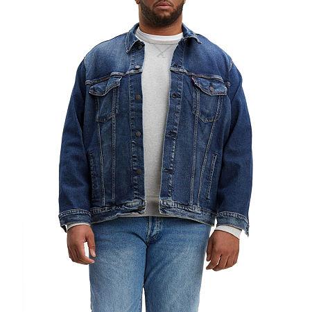 Levis Midweight Denim Jacket Big, 4x-large Tall , Blue