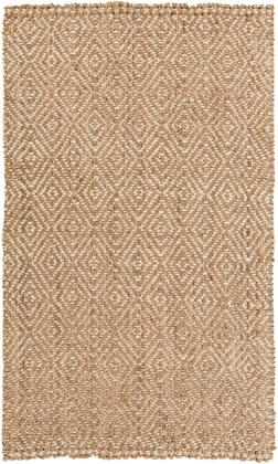 Reeds REED-807 5' x 8' Rectangle Cottage Rug in Tan