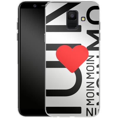 Samsung Galaxy A6 Silikon Handyhuelle - Moin Moin von caseable Designs