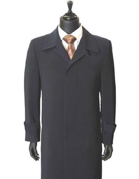 Mens Big And & Tall Trench Coat Navy Blue