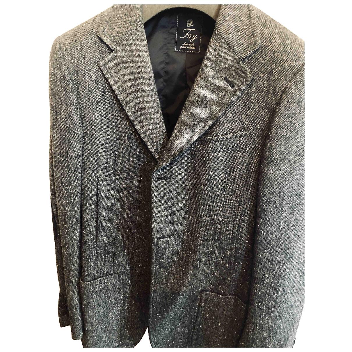 Fay \N Jacke in  Grau Wolle