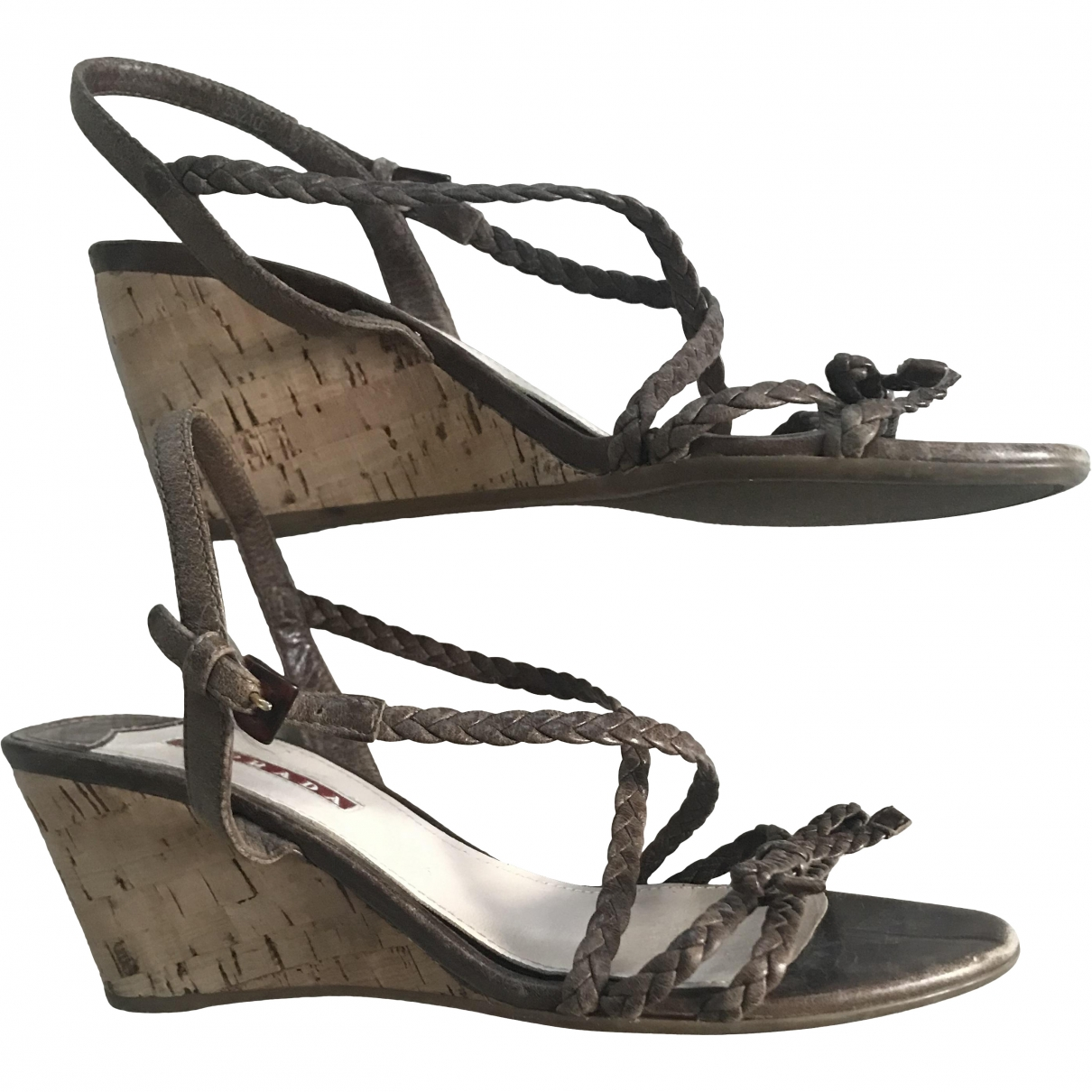 Prada \N Brown Leather Sandals for Women 39 EU