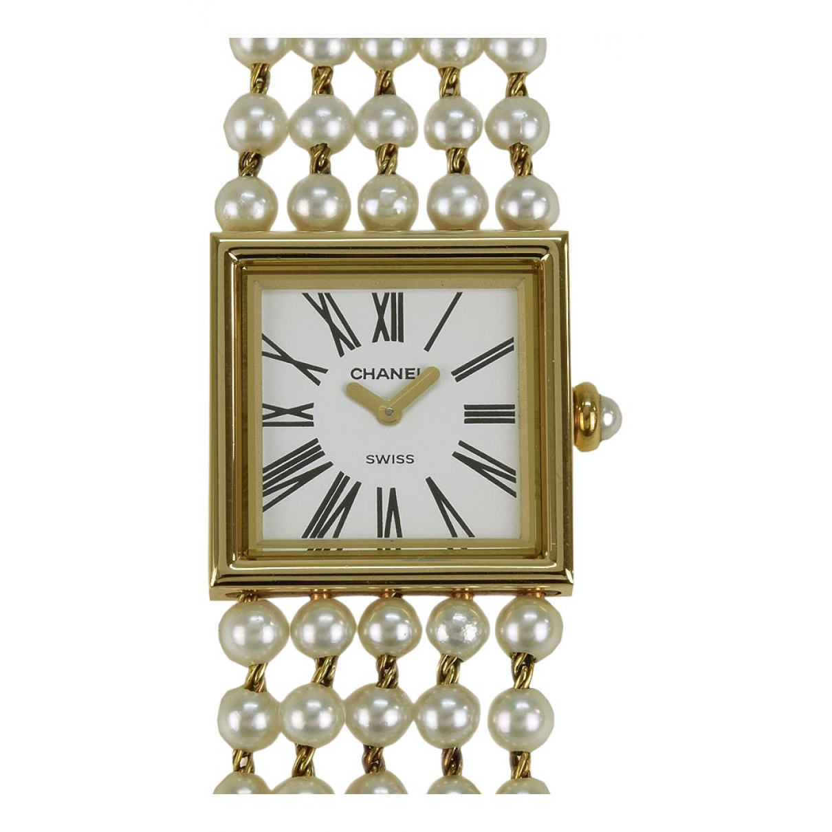 Chanel Mademoiselle White Yellow gold watch for Women \N