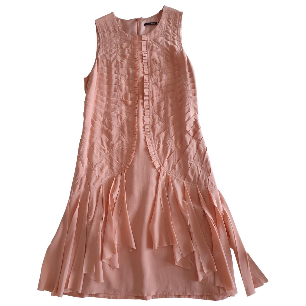 Boss - Robe   pour femme en soie - rose
