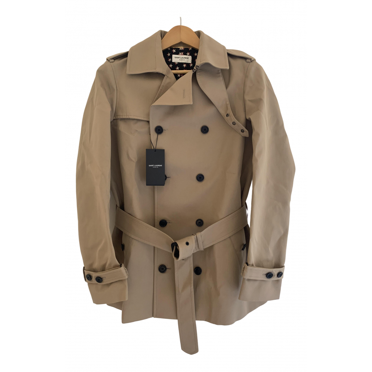 Saint Laurent \N Trench in  Beige Polyester