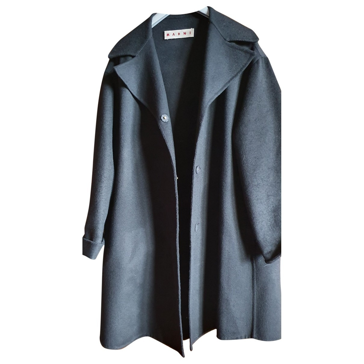 Marni \N Black Wool coat for Women 40 FR
