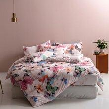 Set de cama con estampado de mariposa sin relleno