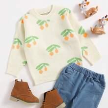 Toddler Girls Fruit Pattern Sweater