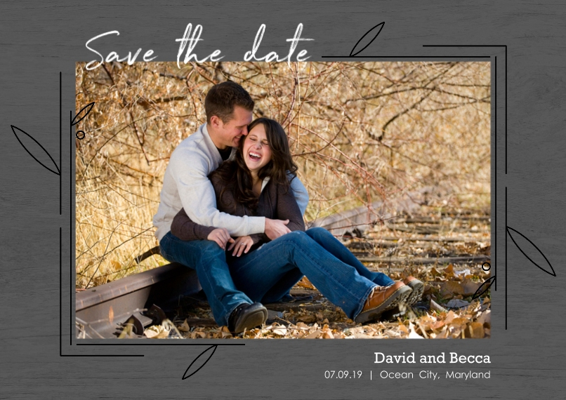 Save the Date Set of 20, Premium 5x7 Foil Card, Card & Stationery -Modern Floral