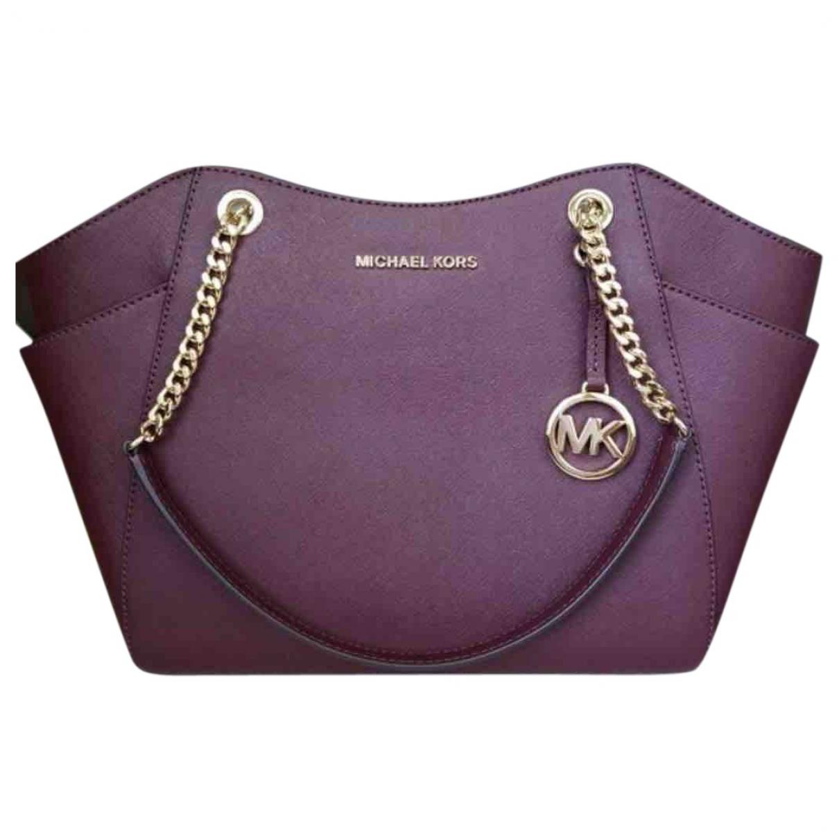 Michael Kors Jet Set Burgundy Leather Travel bag for Women \N