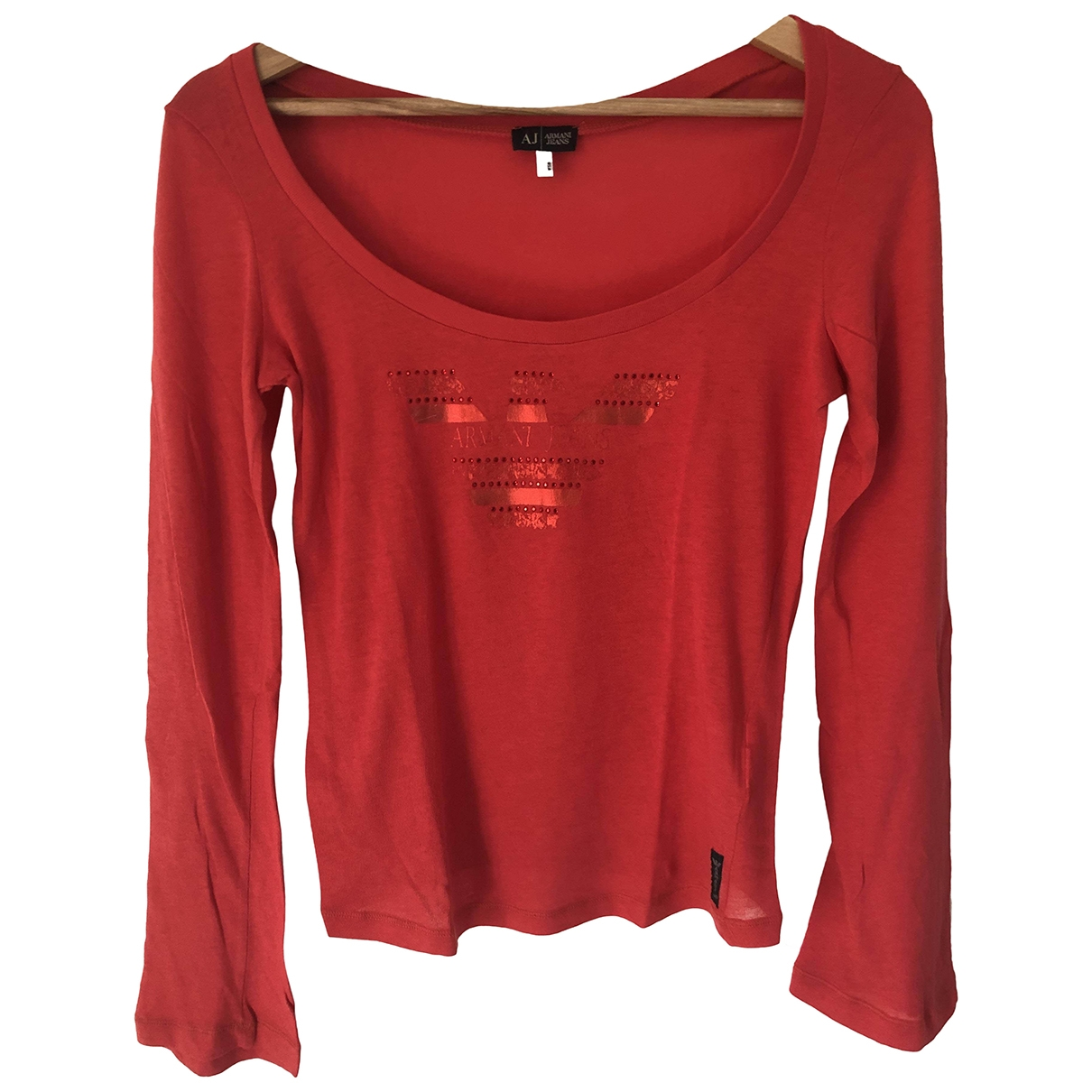 Armani Jeans \N Red Cotton  top for Women 42 IT
