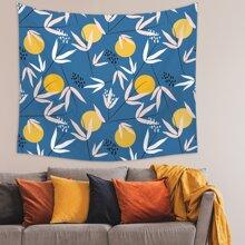 Orange Print Tapestry